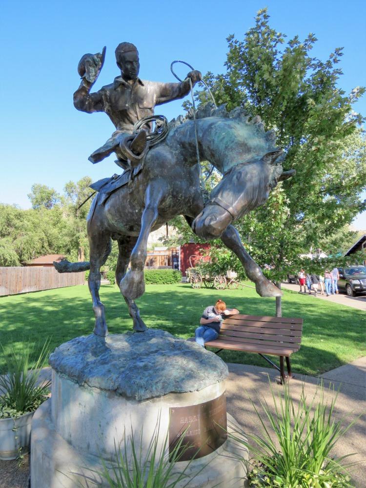 Medora North Dakota adventures cowboy bronze